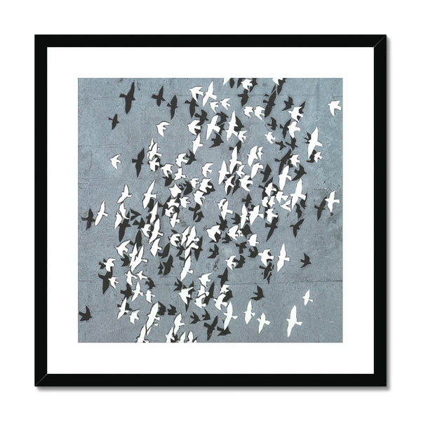 FLOCK YING-YANG mounted & framed print