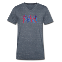 BREAKBEAT DANCERS v-neck tee - gray marl - L