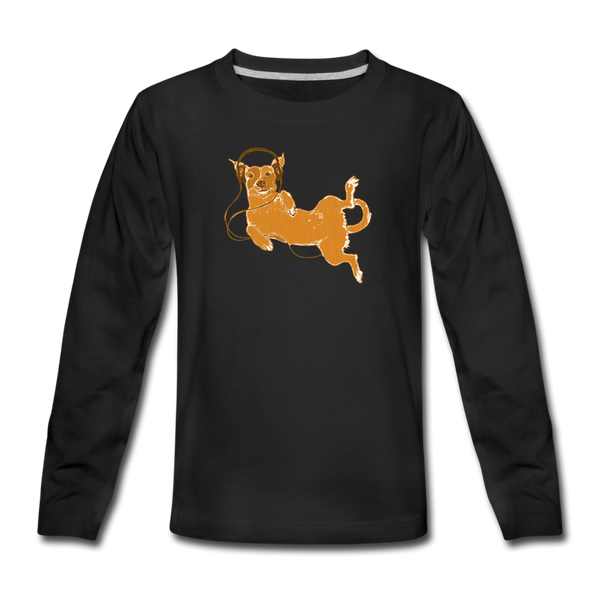 IDLE DOG long-sleeve tee - black - 8yrs / 134-140