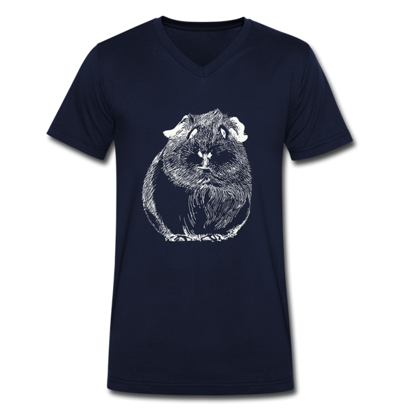 ZOMPIGGY v-neck tee - navy blue - XXL