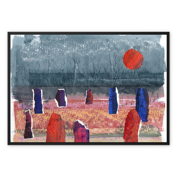 STONE CIRCLE framed canvas