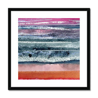SUNSET SEASCAPE Framed & Mounted Print