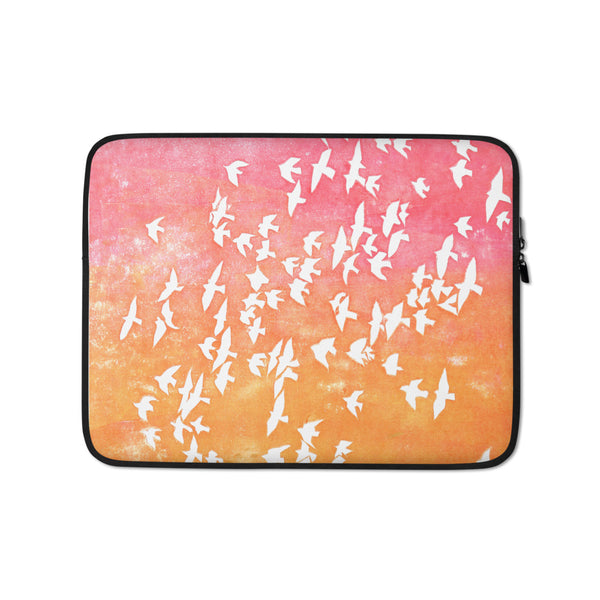 ROSE GOLD FLOCK laptop sleeve