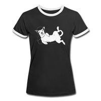 t-Shirt 'idle dog' (cotton) - black/white