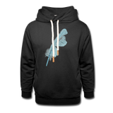 shawl collar hoodie 'feather' (cotton / polyester mix) - black