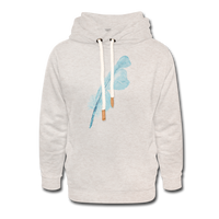 shawl collar hoodie 'feather' (cotton / polyester mix) - heather oatmeal