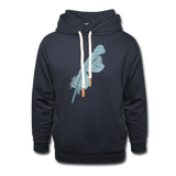 shawl collar hoodie 'feather' (cotton / polyester mix) - navy