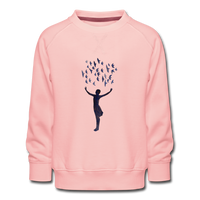sweatshirt 'frances' (cotton, sized 3-14 years) - crystal pink