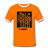 t-shirt 'fox in the moonlight' (cotton / polyester mix) - orange/white
