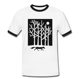 t-shirt 'fox in the moonlight' (cotton / polyester mix) - white/black