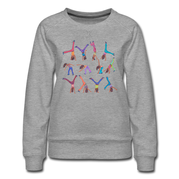 sweatshirt 'walk in the woods' (cotton / polyester mix) - heather grey