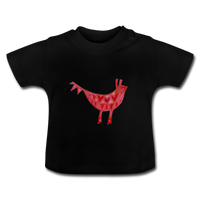 baby t-shirt 'funky beast' (cotton, sizes 3-24 months) - black