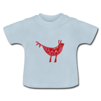 baby t-shirt 'funky beast' (cotton, sizes 3-24 months) - light blue
