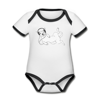 bodysuit 'idle dog' (organic cotton, sizes 0-24 months) - white/black