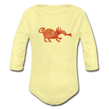 babygrow FUNKY BEASTS - washed yellow