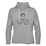 hoodie 'triskelion' - heather grey