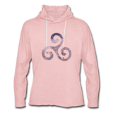 hoodie 'triskelion' - cream heather pink