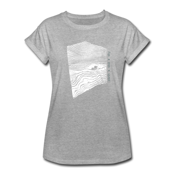 oversize t-shirt EARTH.SEA.SKY. - heather grey
