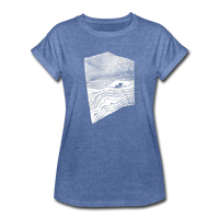 oversize t-shirt EARTH.SEA.SKY. - heather denim
