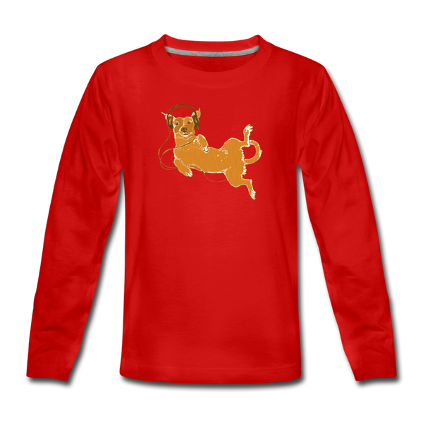 IDLE DOG long-sleeve tee - red