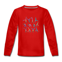 CICELY long-sleeve tee - red