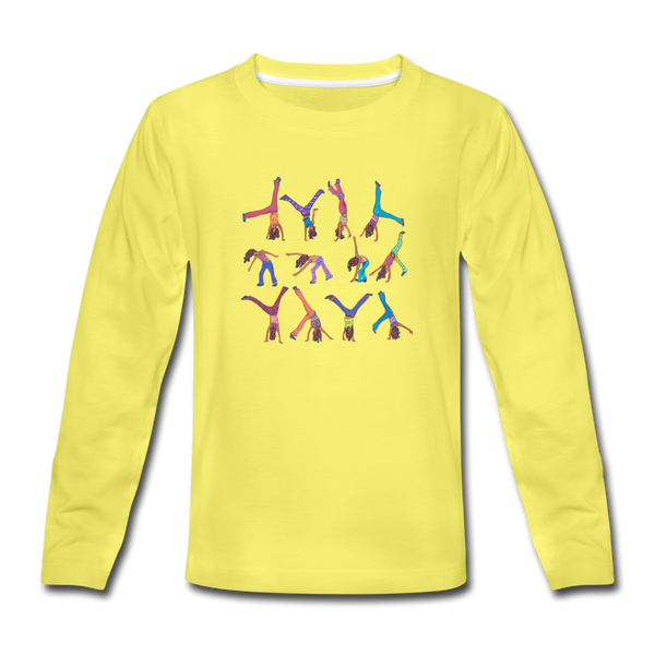 CICELY long-sleeve tee - yellow