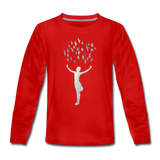 FRANCES long-sleeve tee - red
