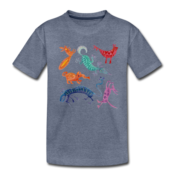 FUNKY BEASTS tee - heather blue