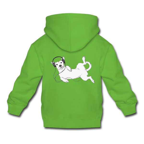 IDLE DOG hoodie - light green