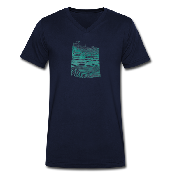 WAVE v-neck tee - navy