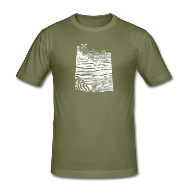 WAVE formfitting tee - khaki green