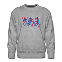 "sweatshirt ""breakbeat dancers' - heather grey"