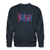 "sweatshirt ""breakbeat dancers' - navy"