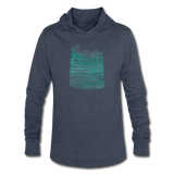 hoodie WAVE - heather blue