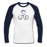 Men's Long Sleeve Baseball T-Shirt - white/navy