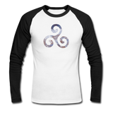 Men's Long Sleeve Baseball T-Shirt - white/black