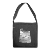 WAVE recycled messenger bag - heather black