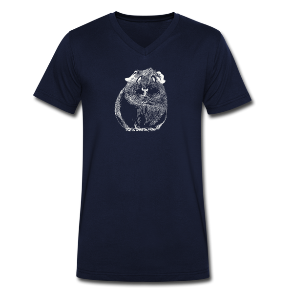 Men's Organic V-Neck T-Shirt - navy