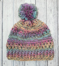 Load image into Gallery viewer, Rainbow Bobble Hat