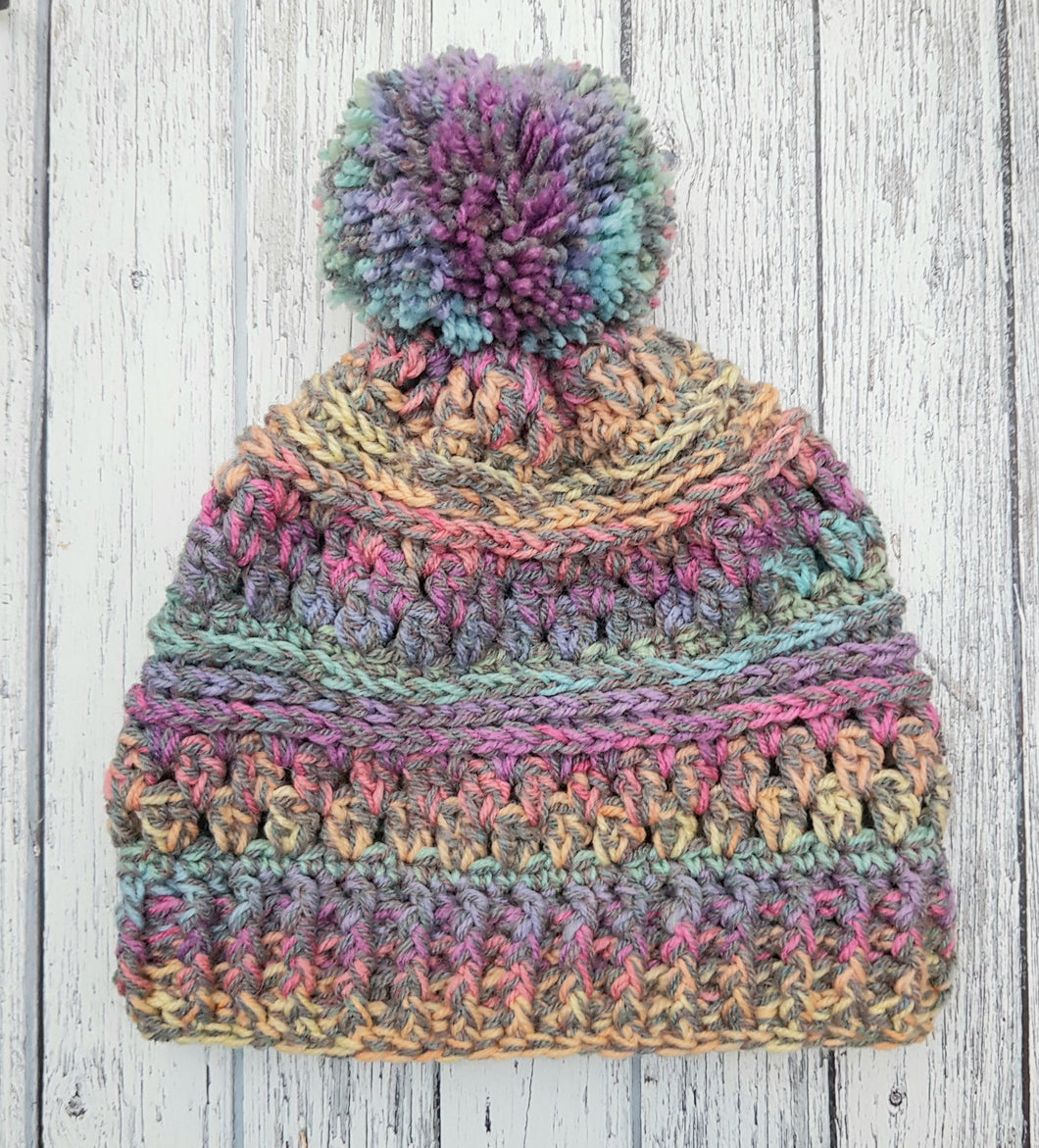 Rainbow Bobble Hat