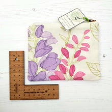 Load image into Gallery viewer, Zip Purse - one off, reclaimed fabric