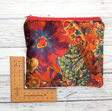 Load image into Gallery viewer, Reclaimed Fabric Zip Purse - Velvet