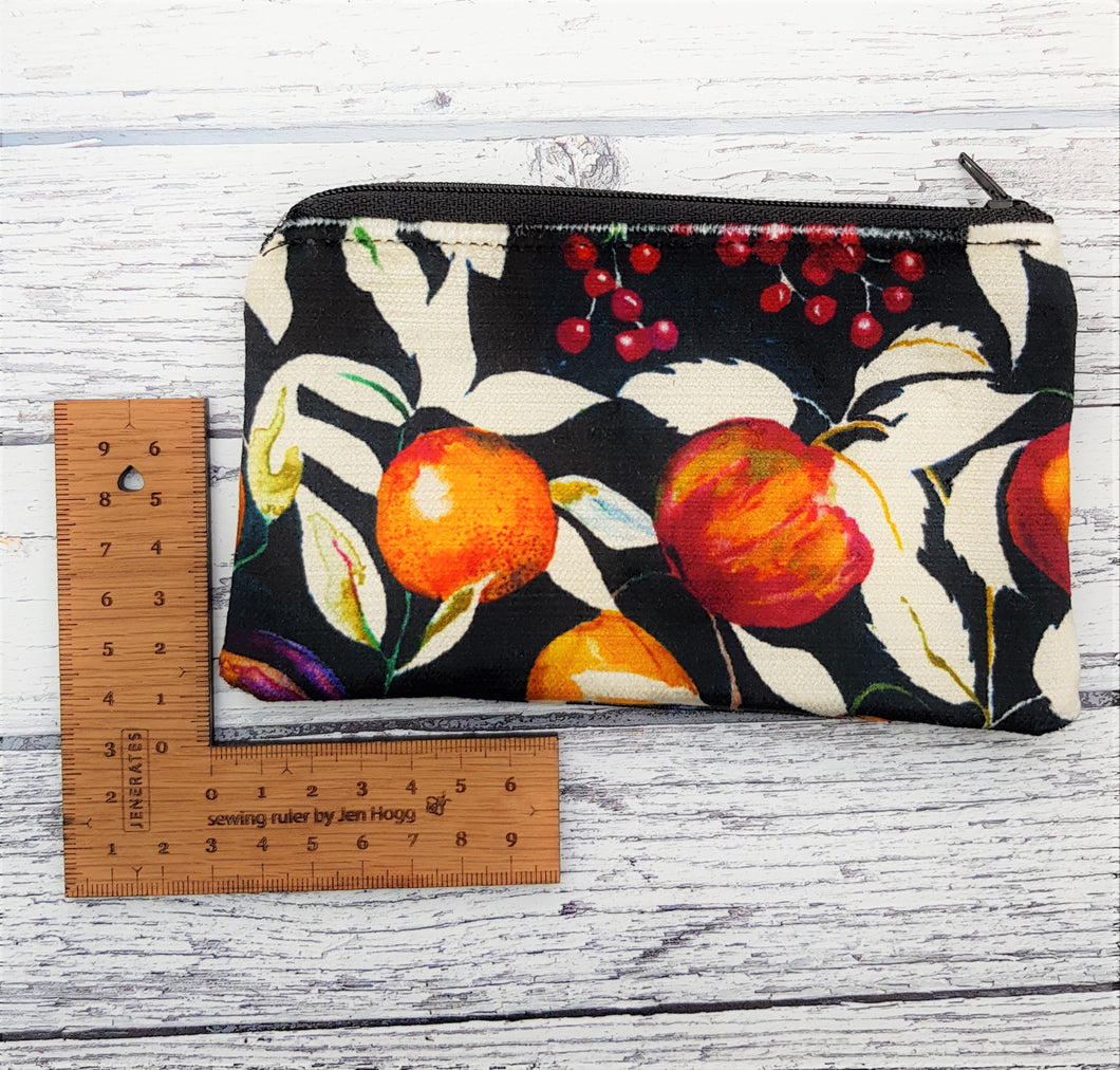 Reclaimed Fabric Zip Purse - Velvet