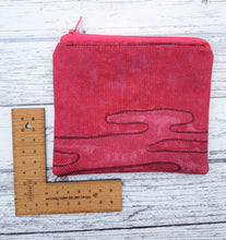 Load image into Gallery viewer, Reclaimed Fabric Zip Purse - Hot Pink