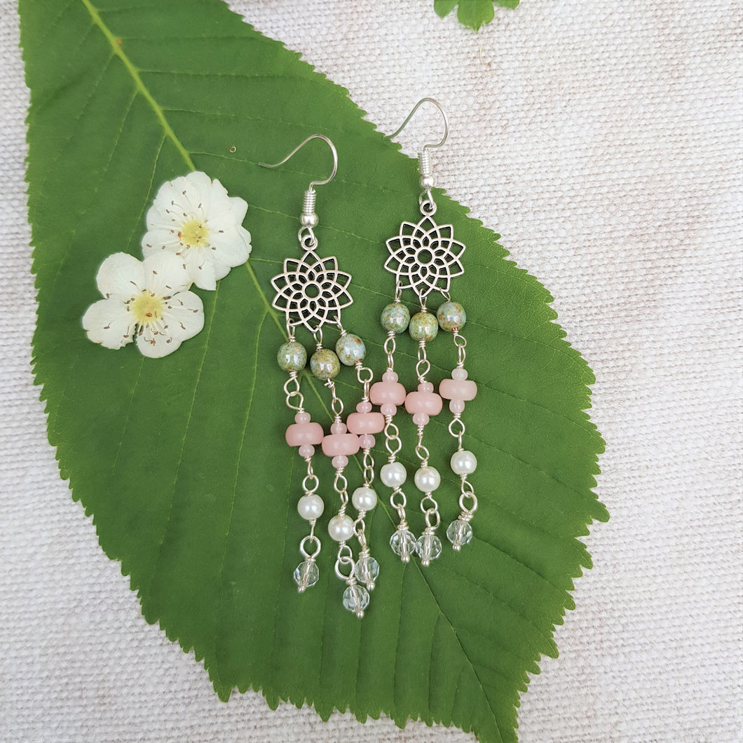 Blossom Beaded Drop Earrings