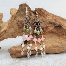 Load image into Gallery viewer, Blossom Beaded Drop Earrings