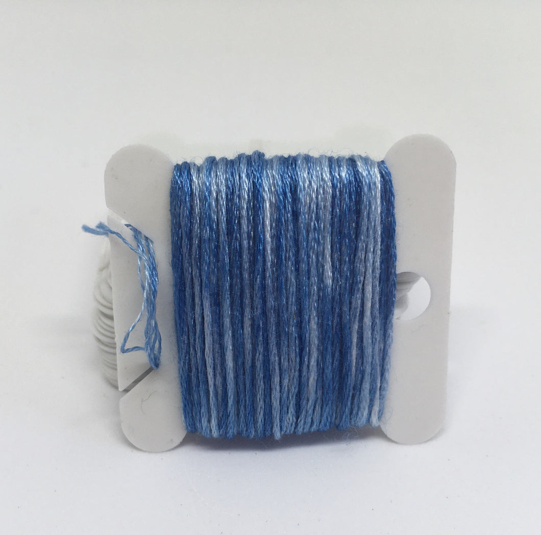 Botanical Dyed Embroidery Thread- Indigo 8metres