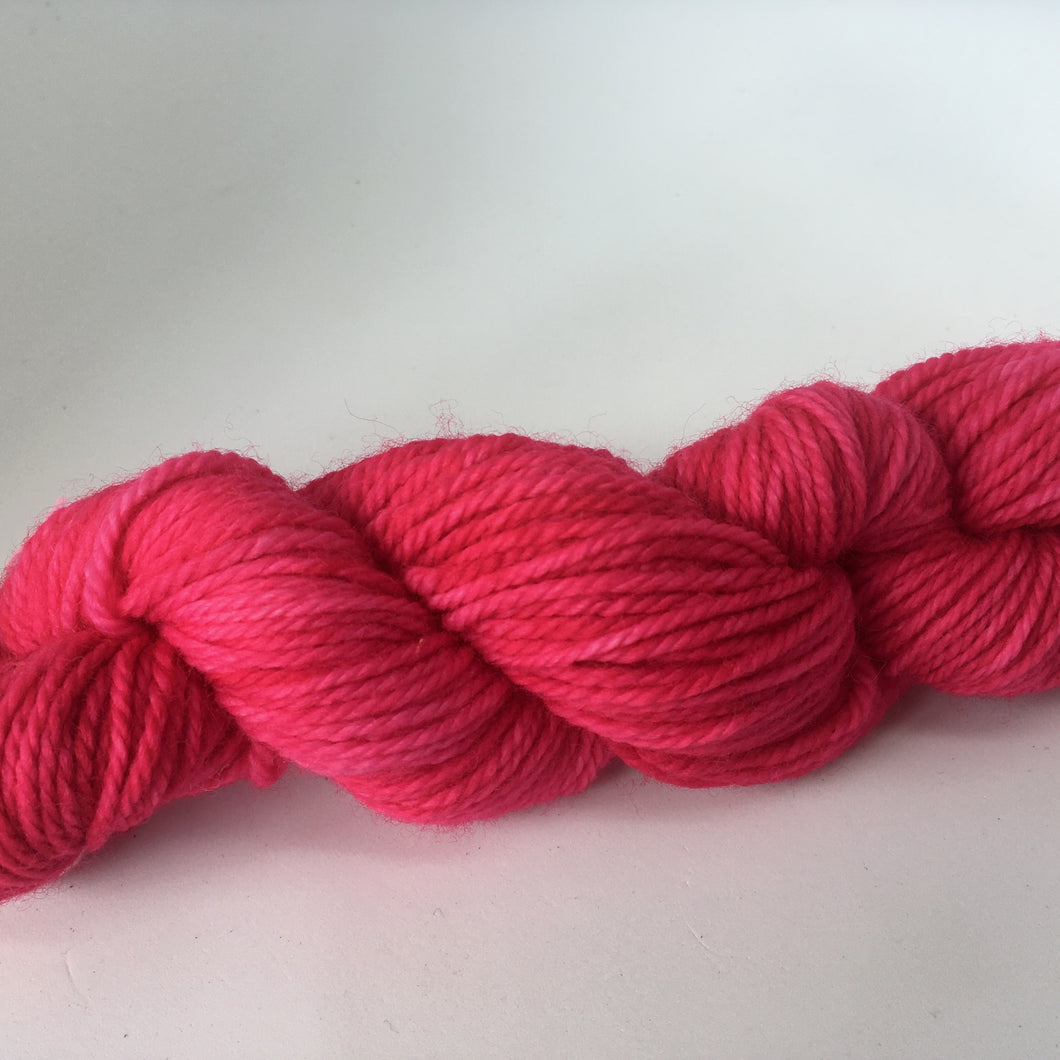 Botanical Dyed  Wool Yarn 8ply-  Beet 50grams
