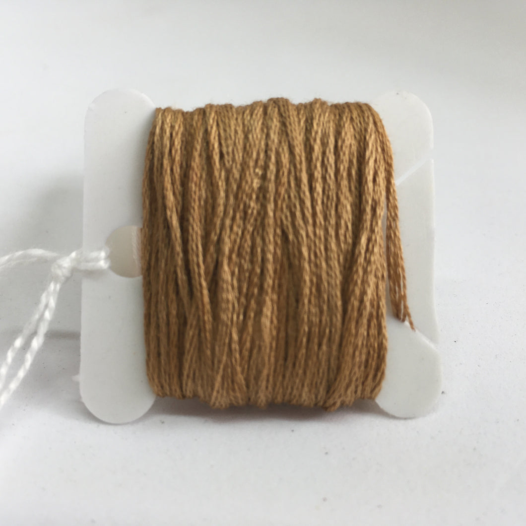 Botanical Dyed Embroidery Thread-  Cutch 8metres