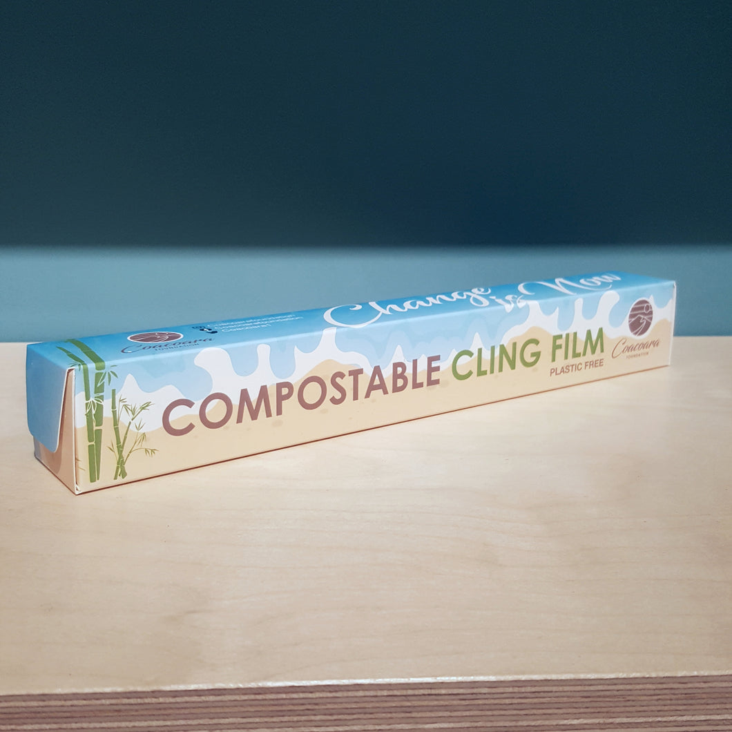Compostable Plastic-Free Cling Film Wrap